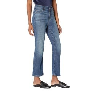 EILEEN FISHER • high waisted ankle bootcut jeans